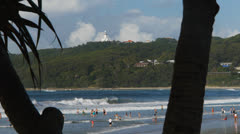 Byron bay main beach Stock Footage