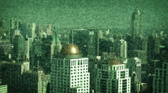 Urban abstract view of the skyscrapers Stock Footage