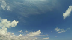 video 1920x1080 - long day timelapse of sky with clouds - stock footage