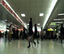 Tokyo subway at rush hour 2 Stock Footage