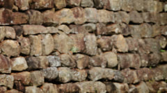 Ancient wall of rough stone. hd video Stock Footage