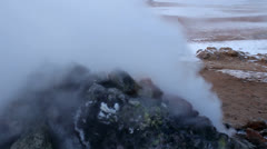 Iceland Geothermal Activity Stock Footage