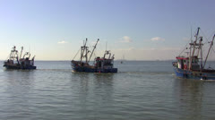 Leigh On Sea Fishing Trawler 2 Long Shot Stock Footage