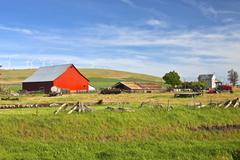 the country farm eastern washington state. - stock photo