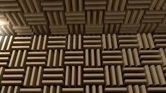Sound proof room, anechoic chamber. Stock Footage
