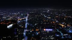 Night Kaupunkikuva Timelapse 154 Los Angeles Freeway Traffic Loop 4K Arkistovideo