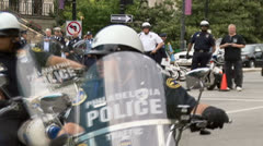 (Slow Motion Version) Police  Stock Footage