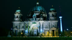 Berlin Cathedral (German: Berliner Dom), time lapse, 4k Stock Footage