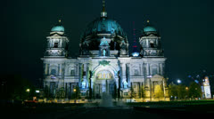 Berlin Cathedral (German: Berliner Dom), time lapse Stock Footage