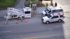 Police Car in New York City Stock Footage