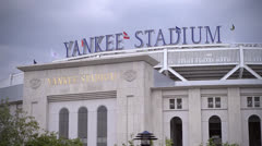 Yankee stadium street view during day  time. - stock footage