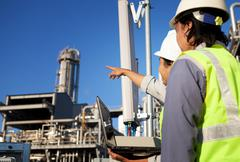 Two engineer power and energy Stock Photos