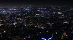 Night Kaupunkikuva Timelapse 157 Los Angeles Freeway Traffic Loop 4K Arkistovideo