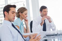 Concentrated business people Stock Photos