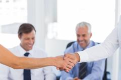 Close up of a handshake Stock Photos