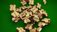 Stock Video Footage of Casino Series Coins 2