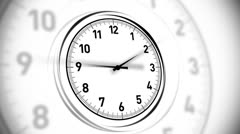 Clock White Stock Footage