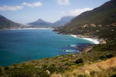 View of Hout Bay from Chapman's Peak Stock Photos