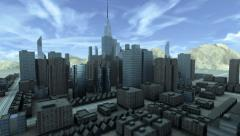 Growing city - stock footage