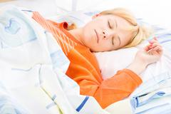 girl sleeping - stock photo