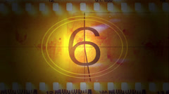 Movie film with a countdown Stock Footage