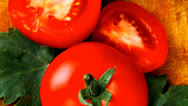 Stock Video Footage of aw vegetables : some uncooked ripe fresh tomatoes