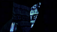 Presentation of a Hacker Stock Footage