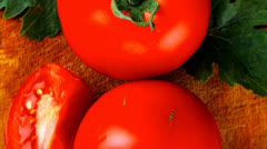 Aw vegetables : some uncooked ripe fresh tomatoes Stock Footage
