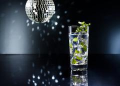 green mojito cocktail - stock photo
