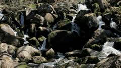 Boulder Waterfall Dartmoor - 25FPS PAL Stock Footage