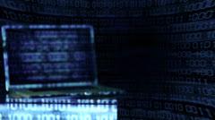 Hacker Portrait Appearing - stock footage