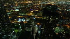 Night Kaupunkikuva Timelapse 168 Los Angeles Freeway Traffic Pienennä 4K Arkistovideo