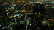 Stock Video Footage of 4K Night Cityscape Timelapse 168 Los Angeles Freeway Traffic Zoom Out