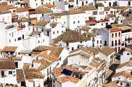 Stock Photo of white houses of setenil, spain