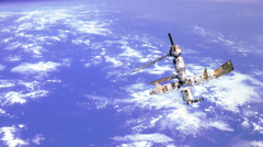 Space station - stock footage