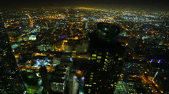 4K Night Cityscape Timelapse 170 Los Angeles Freeway Traffic L Stock Footage