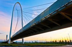 modern suspended bridge in Reggio Emilia - Italy - stock photo