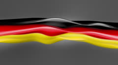 Abstract flowing flag. Germany. 4k Stock Footage