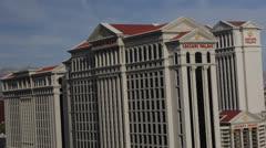 Caesars Palace Hotel Casino Augustus Centurion Roman Forum Tower Las Vegas Strip Stock Footage