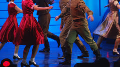 Patriotic USSR dance Stock Footage