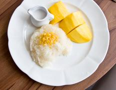 Stock Photo of stricky rice with mango