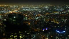Night Kaupunkikuva Timelapse 172 Los Angeles Freeway Traffic Pienennä 4K Arkistovideo