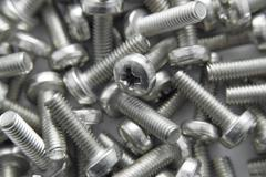 Bunch of screws as background Stock Photos