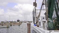 Fishing boat marina - stock footage
