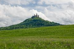Hohenzollern castle in the black forest, germany Stock Photos