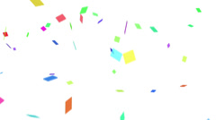 Confetti with Alpha Stock Footage