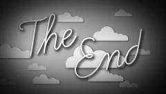The End - Black and White Stock Footage