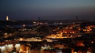 Lisbon panoramic sunset  Stock Footage