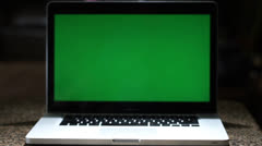 Green Screen on Laptop Computer - stock footage
