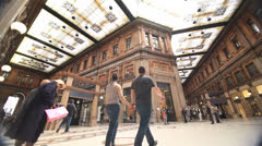 Galeria Alberto Sordi in Rome Stock Footage